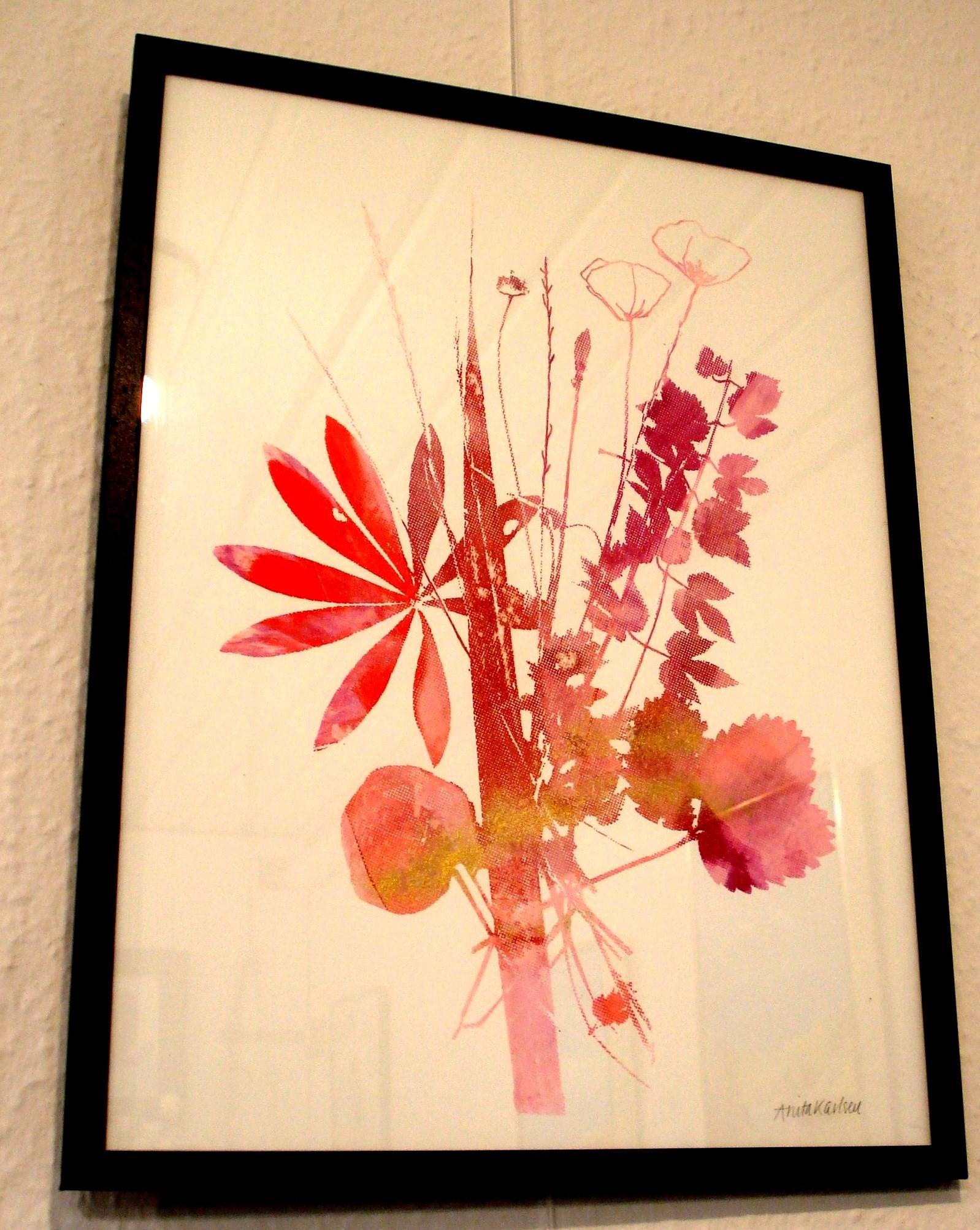 Buket lyserød med lupin