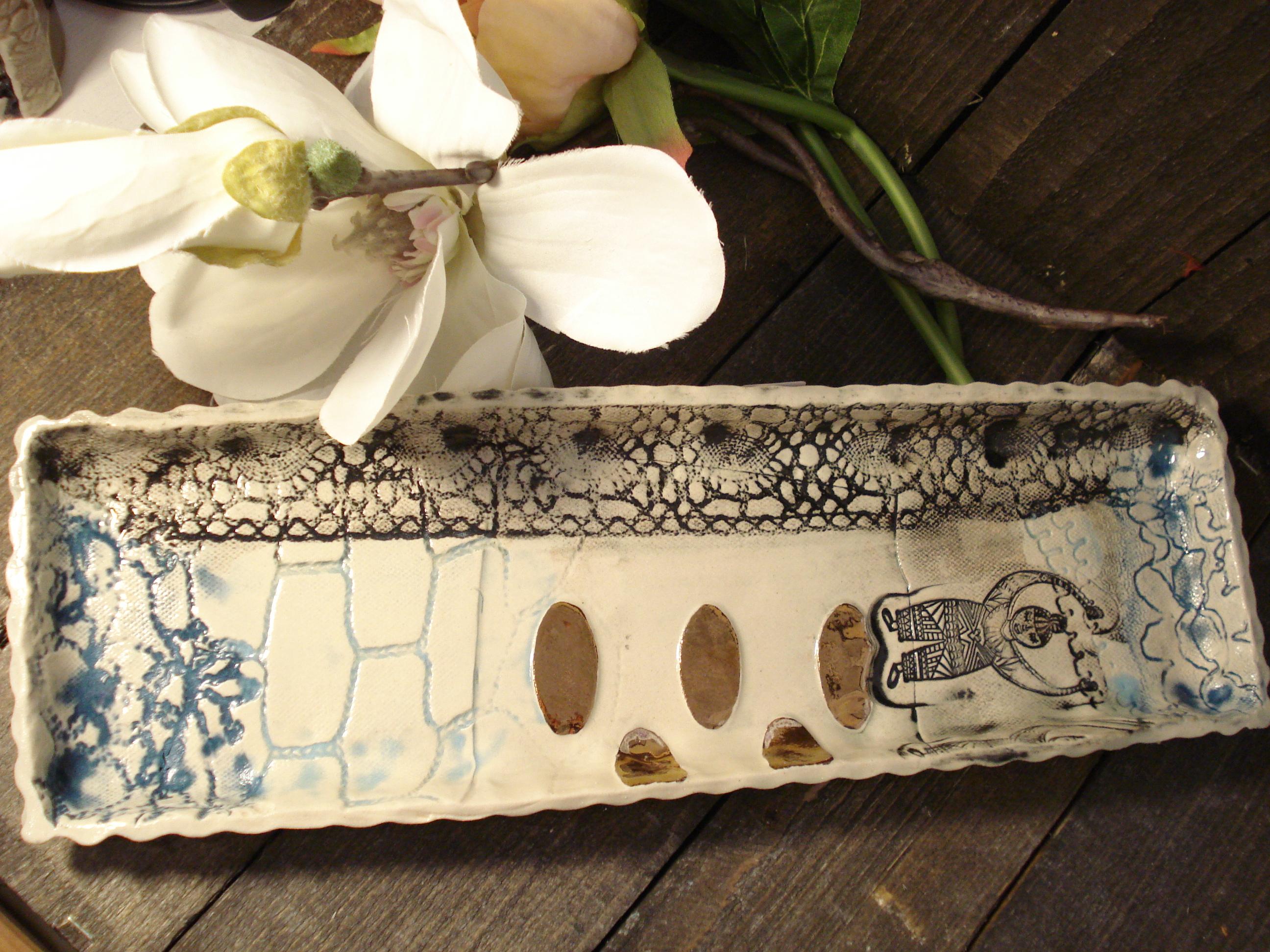 Eskimo lav keramik fad