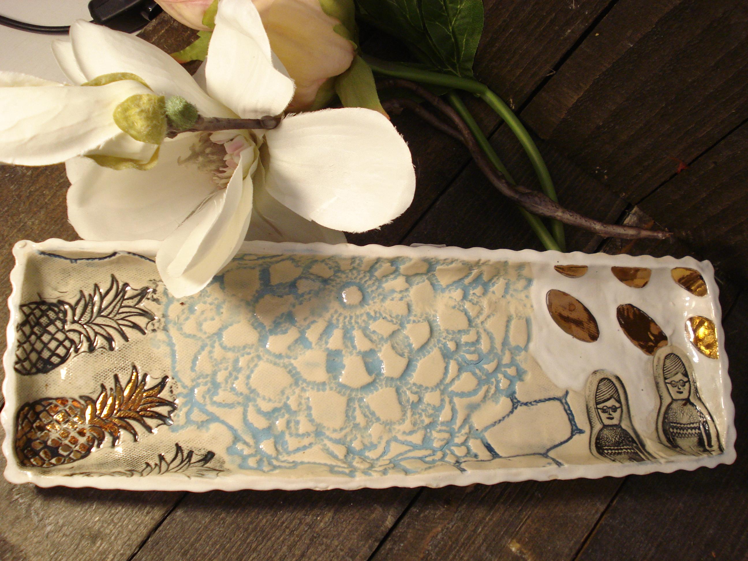 Ananas lav keramik fad