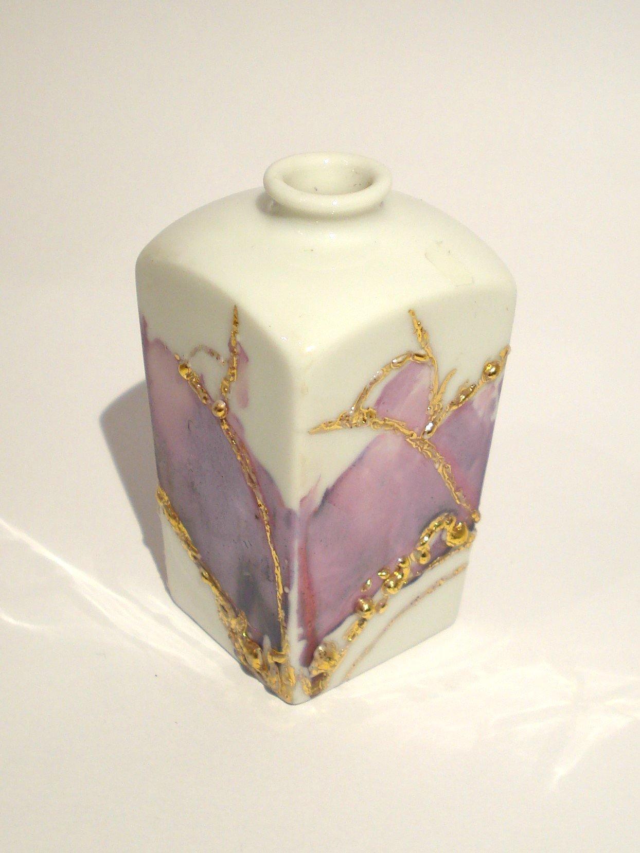 Lille håndmalet vase