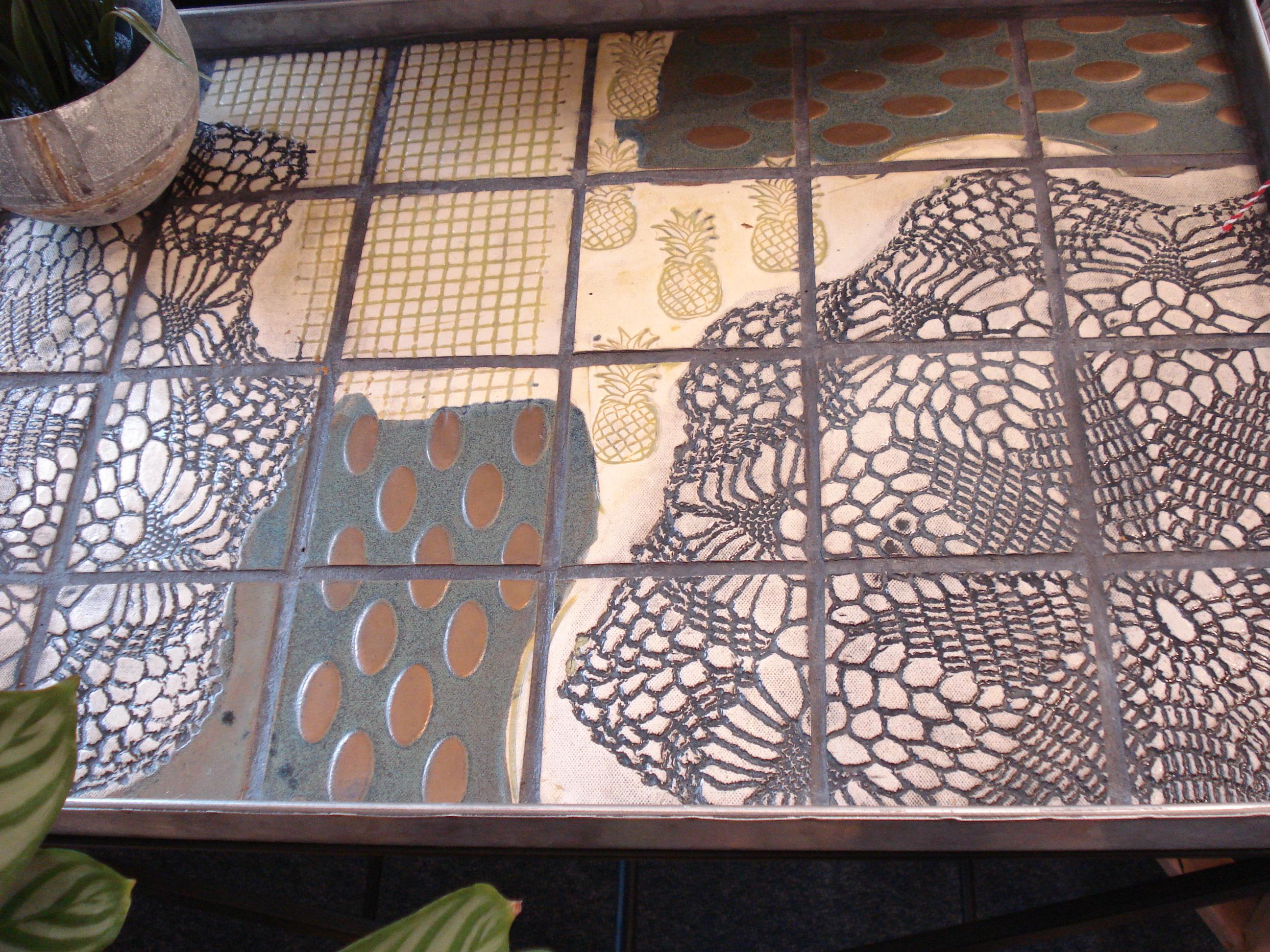 Zink bakke flisebord, stor fra Inge Frederiksen