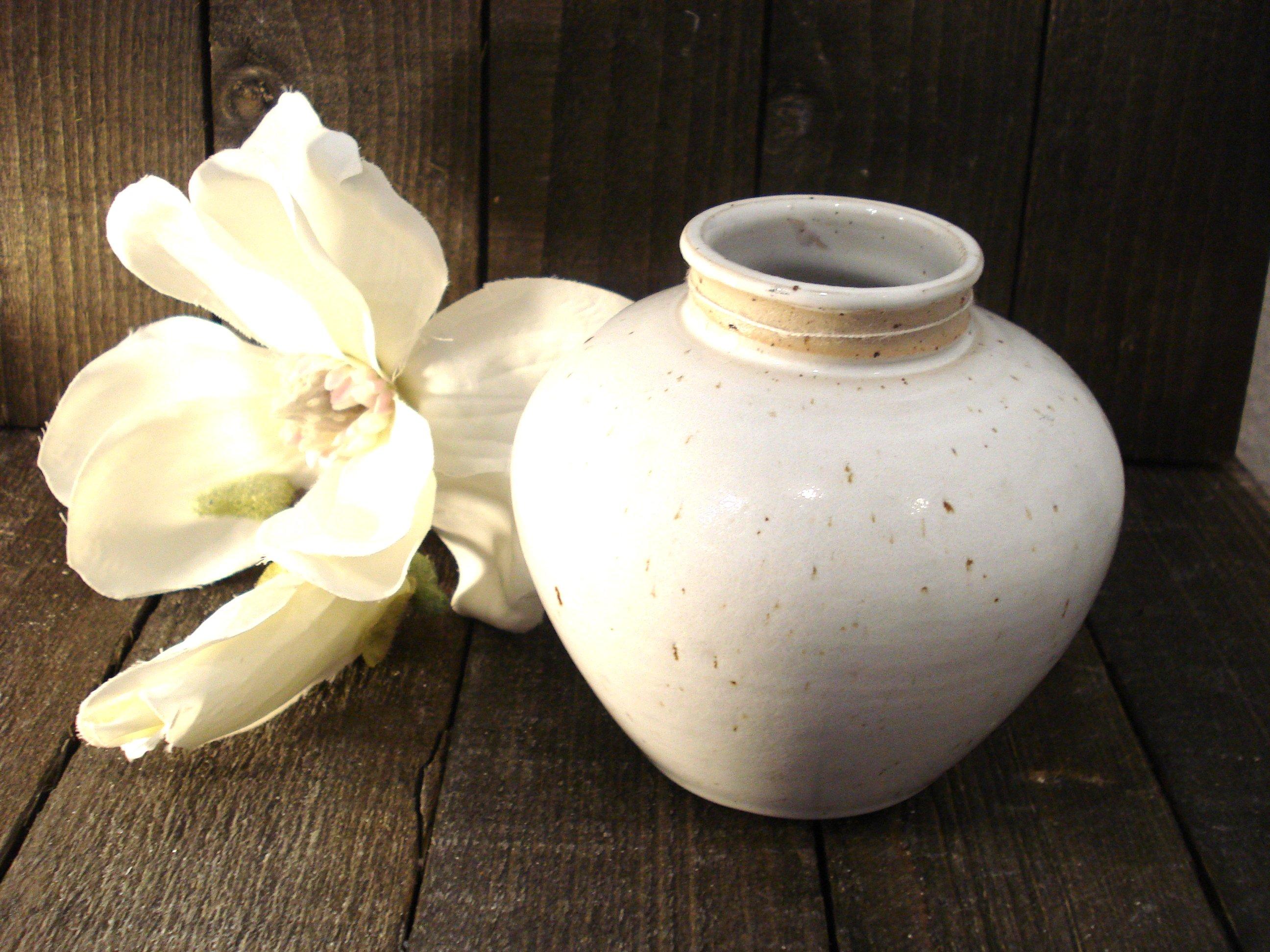 Hvid Lars Kähler vase