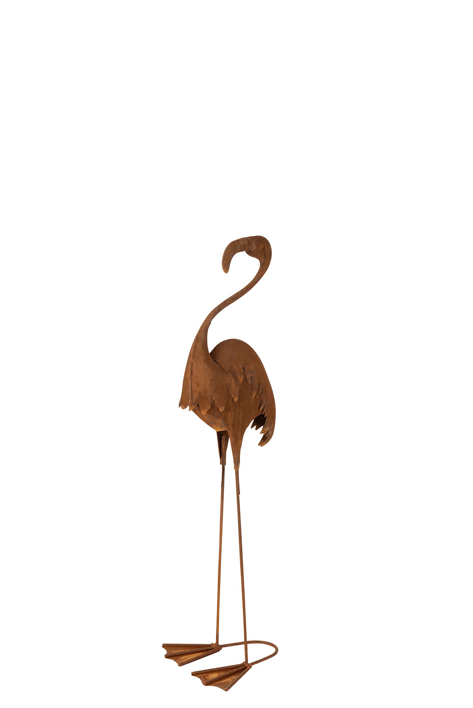 Flamingo figur i rust metal