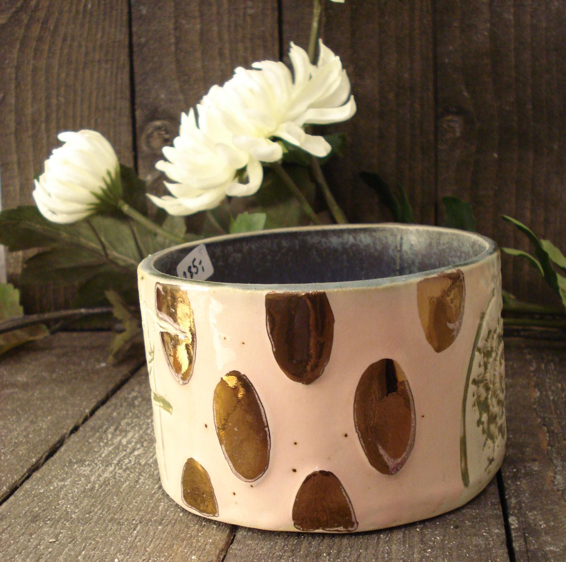 Lav keramik skål lyserød