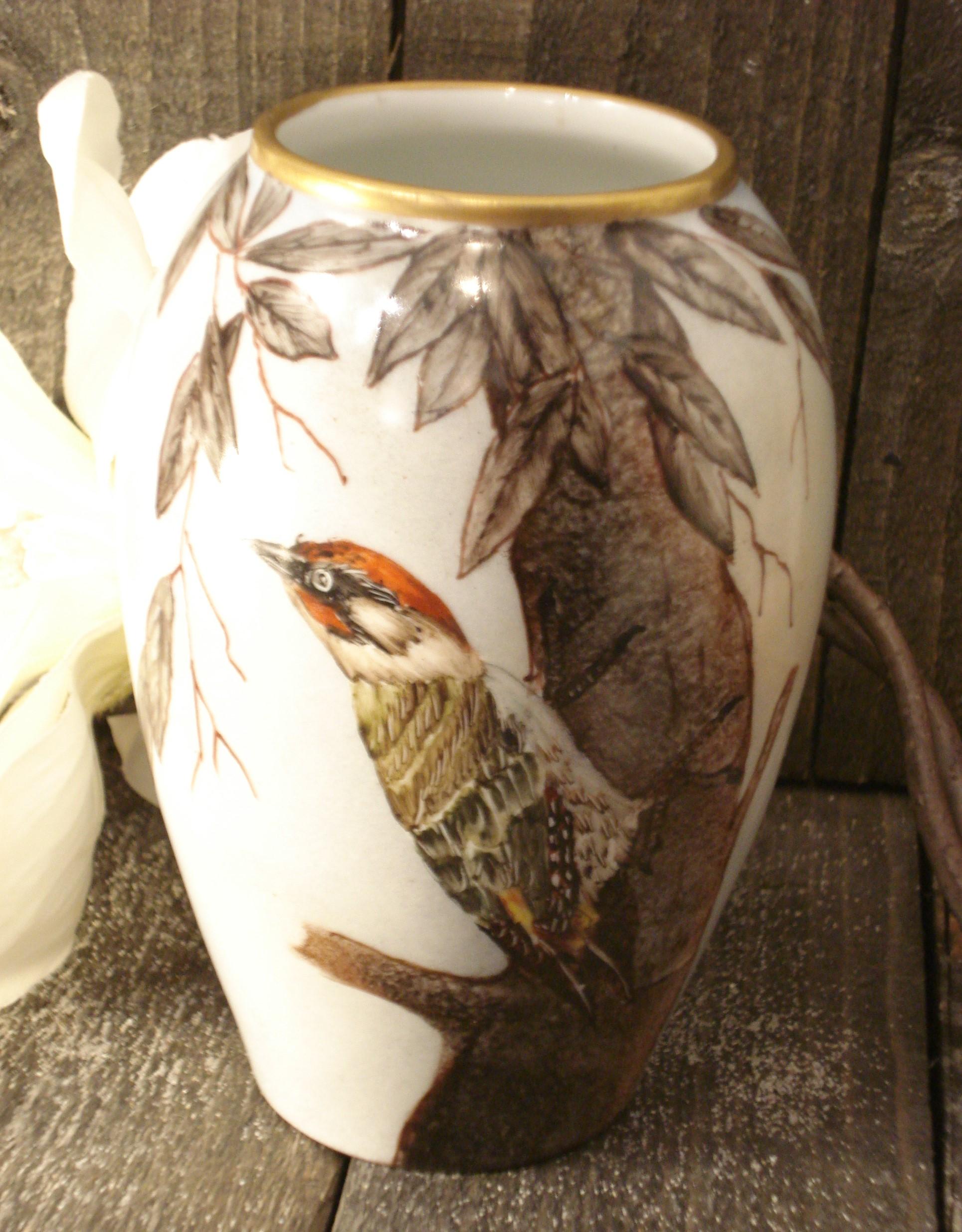Vase med spætte