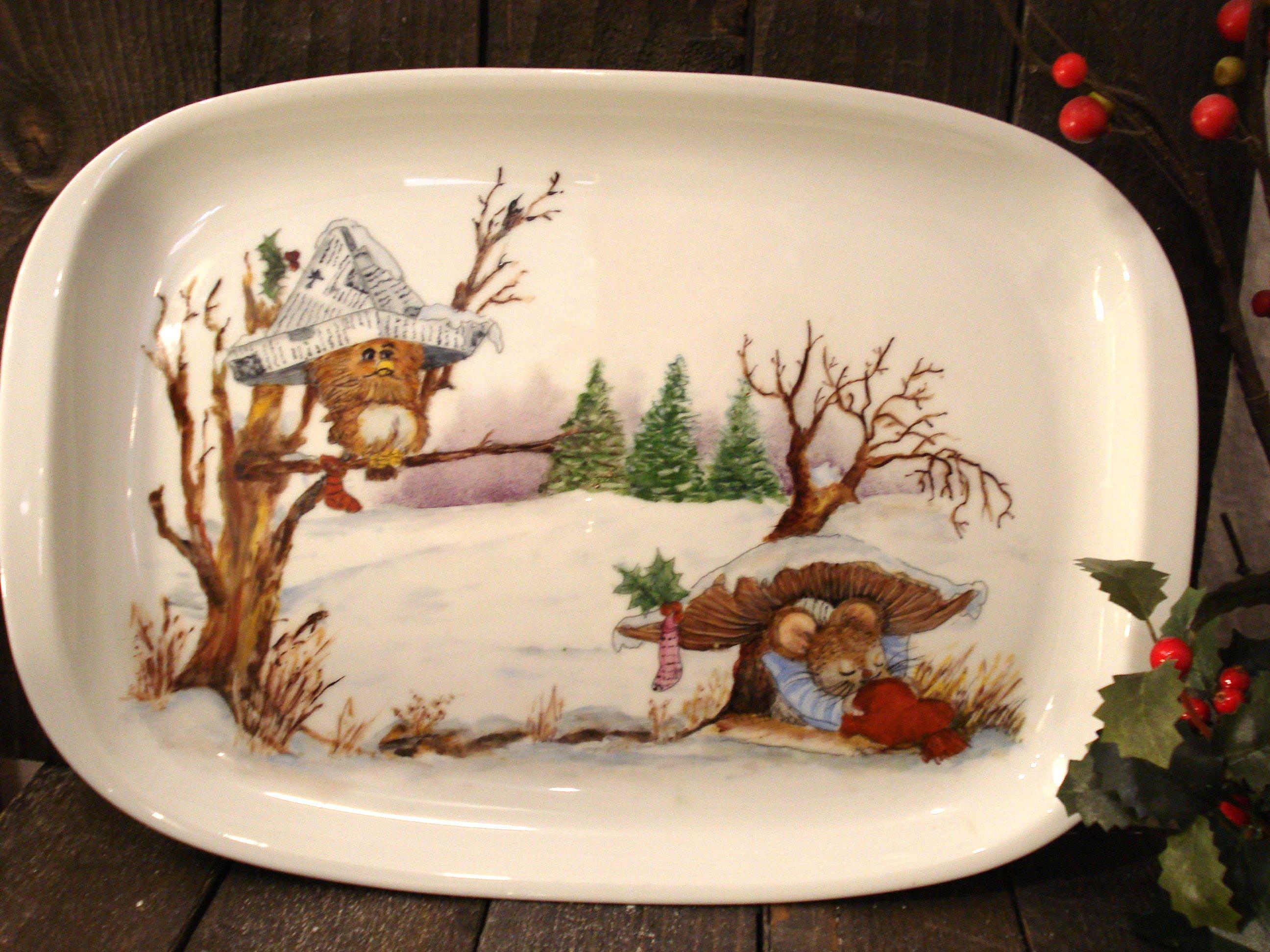 Sødt jule porcelænsfad