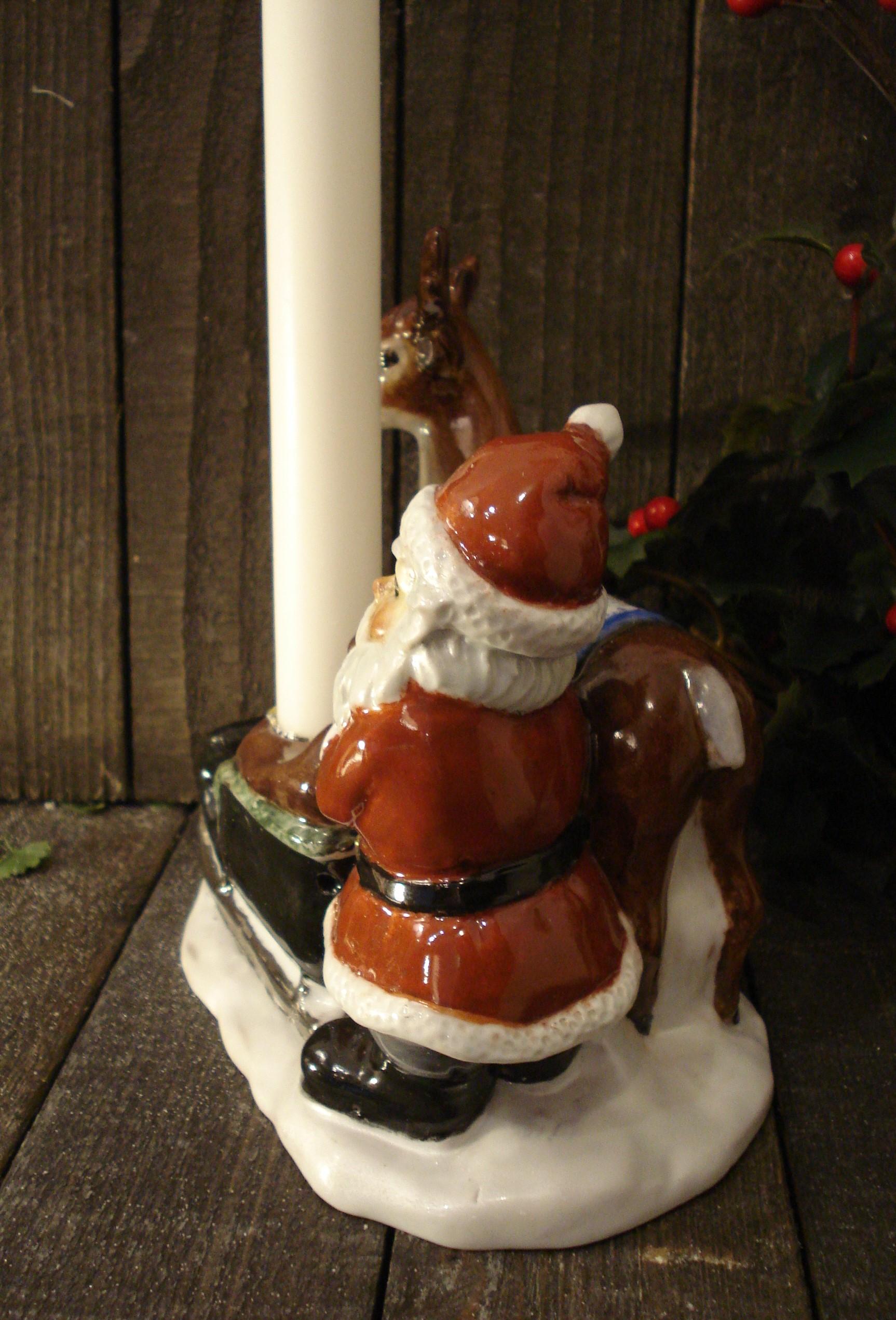 Kane med rensdyr og julemand