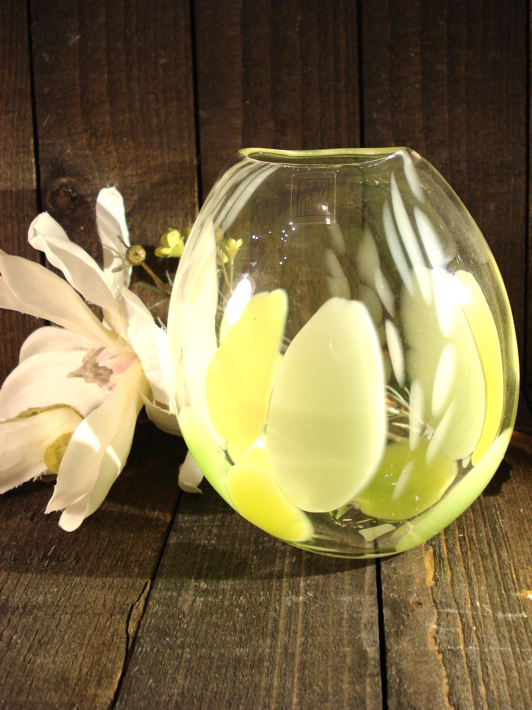 Mundblæst vase fra Anne Flohr
