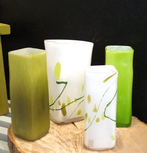 Glasvaser m. mønster - små