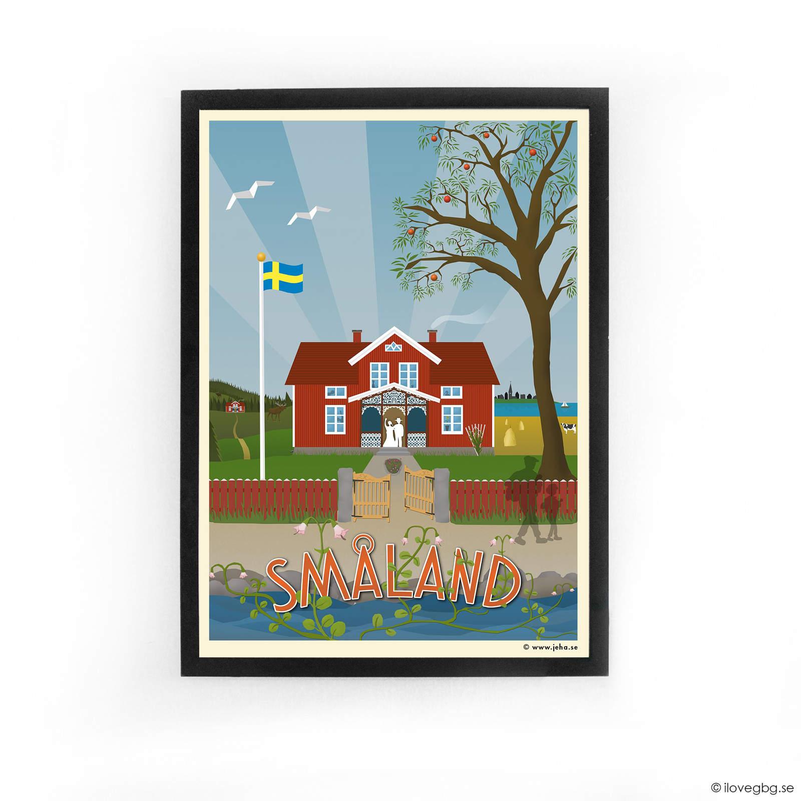 Småland poster 50x70