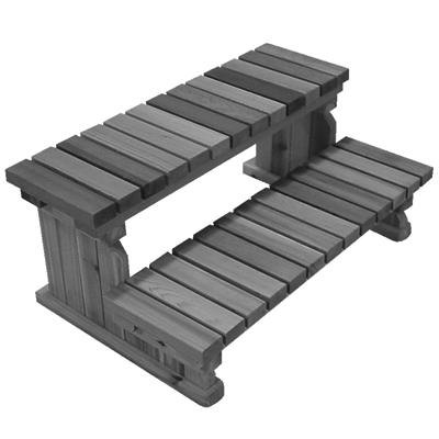 Trapp 2-trinn Gråmalt cedartre 91 cm