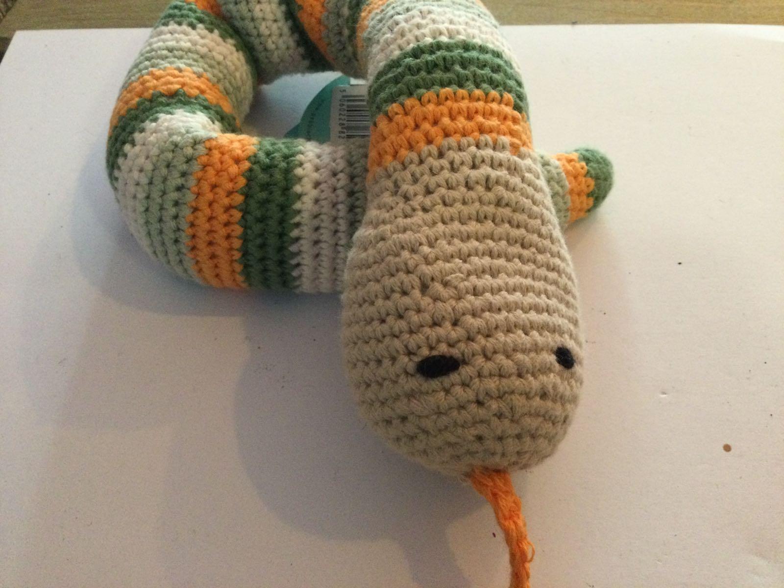 Pebble - Crochet Snake Rattle - Khaki