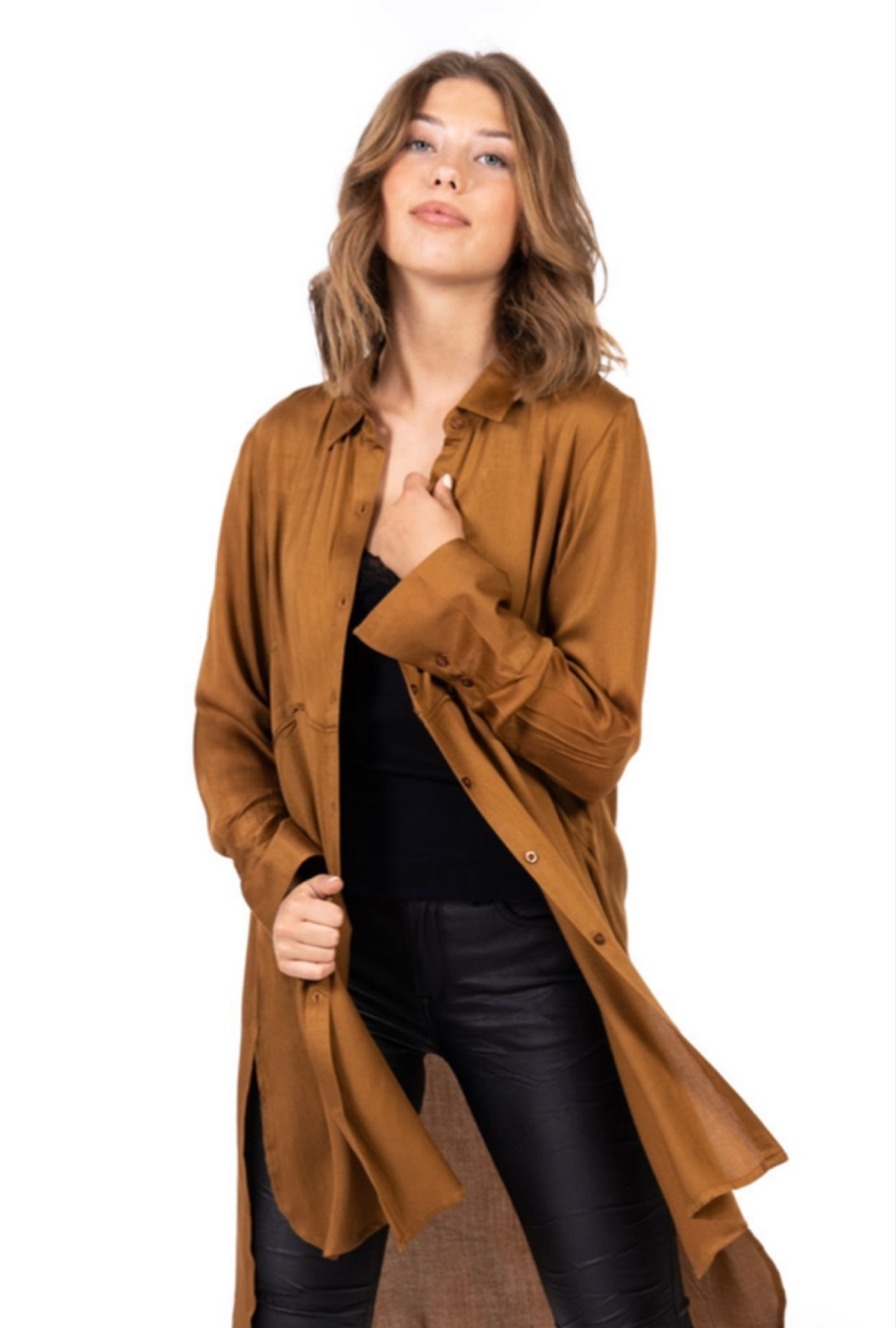 Valentina skjorta, antique gold