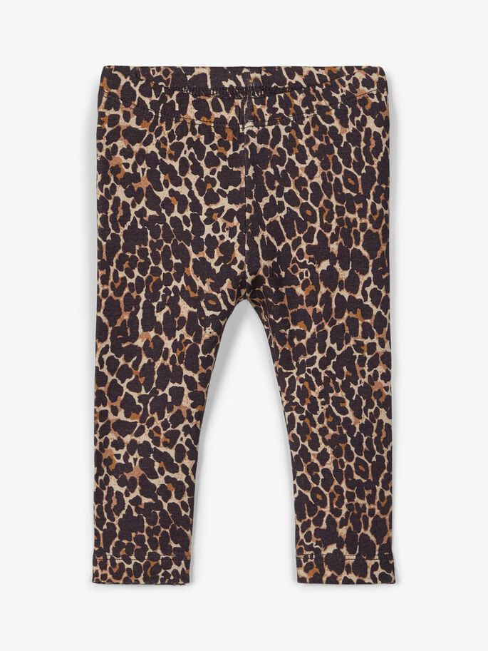 Name it Mini Leopardmönstrad Leggings i Ekologisk Bomull