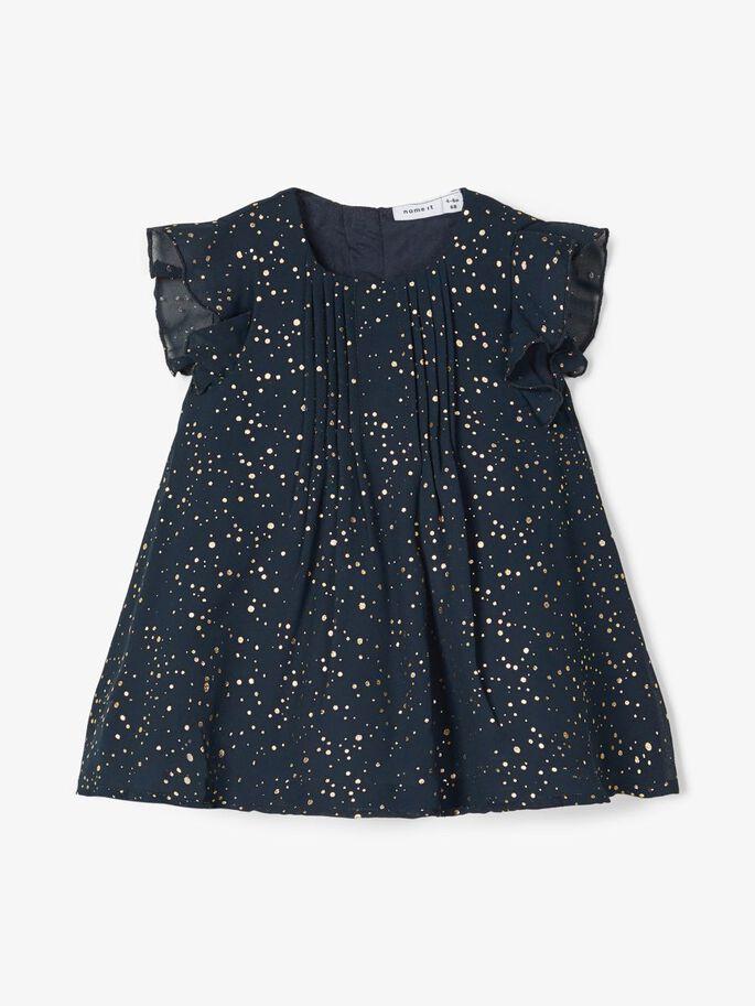 Name it Baby Festklänning med Guldprickar