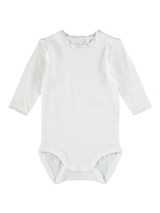 Name it Baby Body med Spets Vit