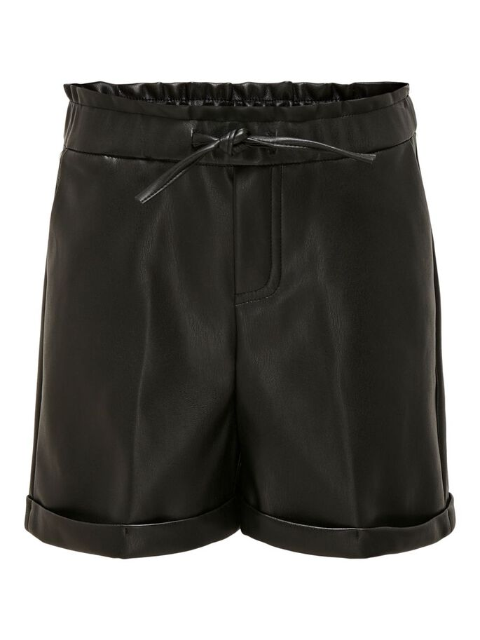 KIDS ONLY Koncleo Shorts i Skinnimitation Svart