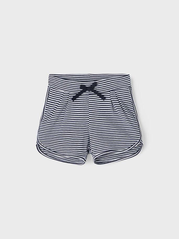 Name it Mini Randiga Shorts i Ekologisk Bomull