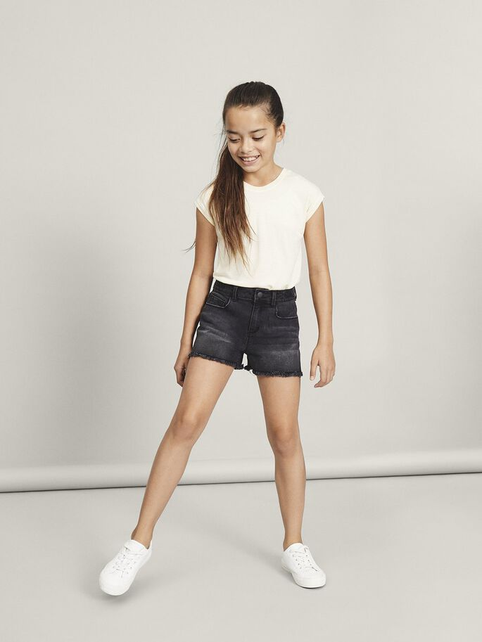 "Name it Kids ""Mom"" Jeansshorts Svart Denim"