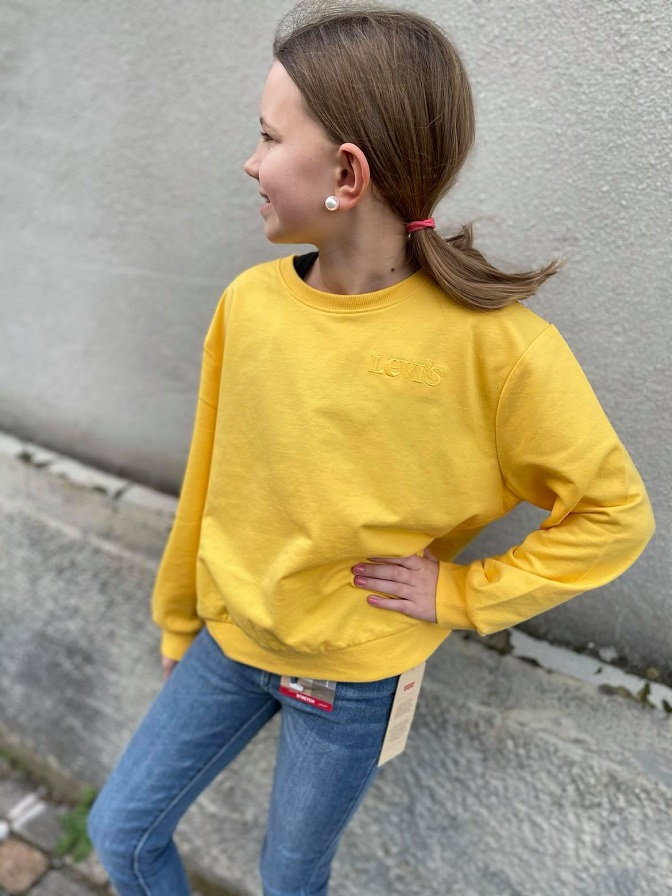 Levis Kids Girl Drop Shoulder Crew Daffodil