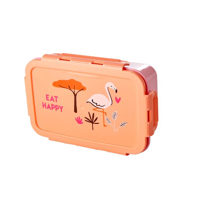 Rice Rosa Lunch/Snacklåda Med Flamingotryck