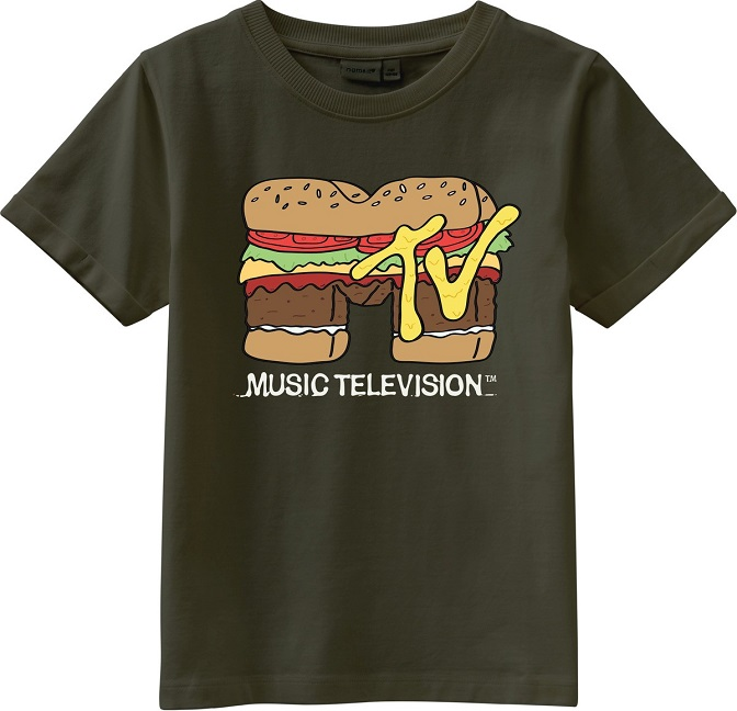 Name it Kids MTV T-shirt i Ekologisk Bomull Grön
