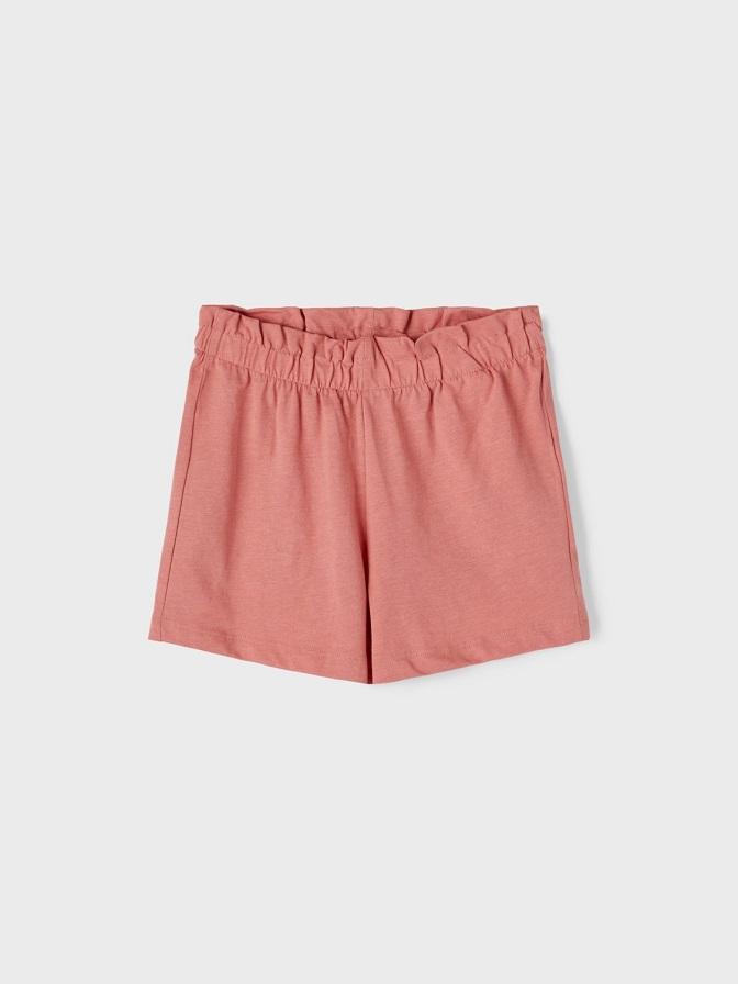 Name it Kids Paperbag Shorts i Ekologisk Bomull Rosa