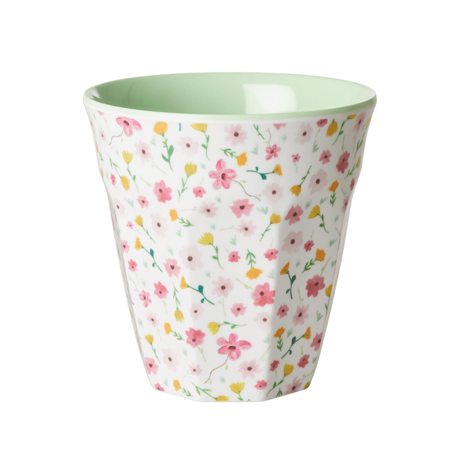 Rice Mugg i Melamin Easter Flower White