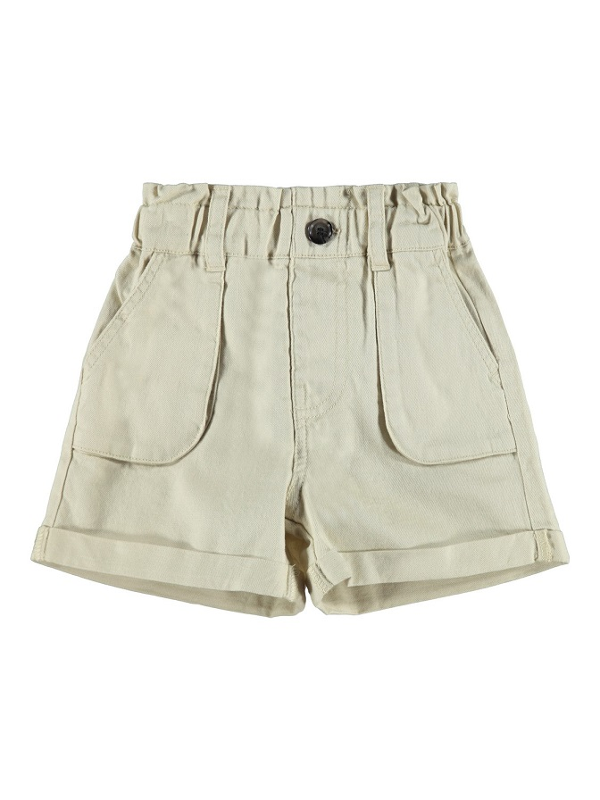Name it Mini Paperbag Shorts i Ekologisk Bomull Beige