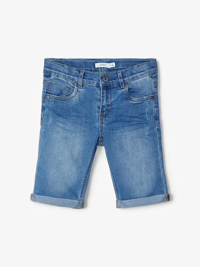 Name it Kids Trappe Jeansshorts Ljusblå Denim