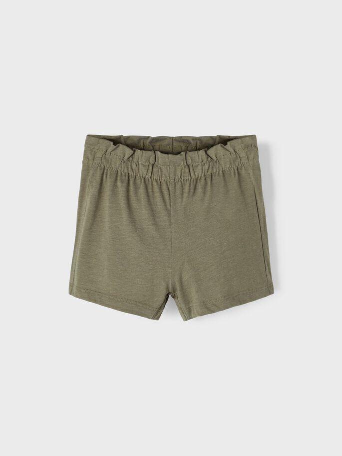 Name it Mini Paperbag Shorts i Ekologisk Bomull Grön