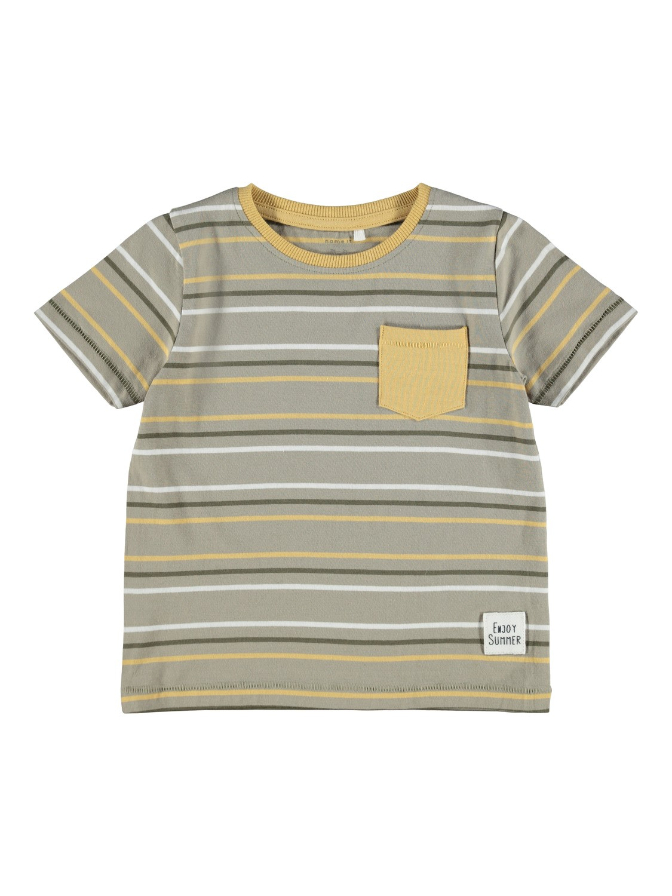 Name it Mini Randig T-Shirt Grön