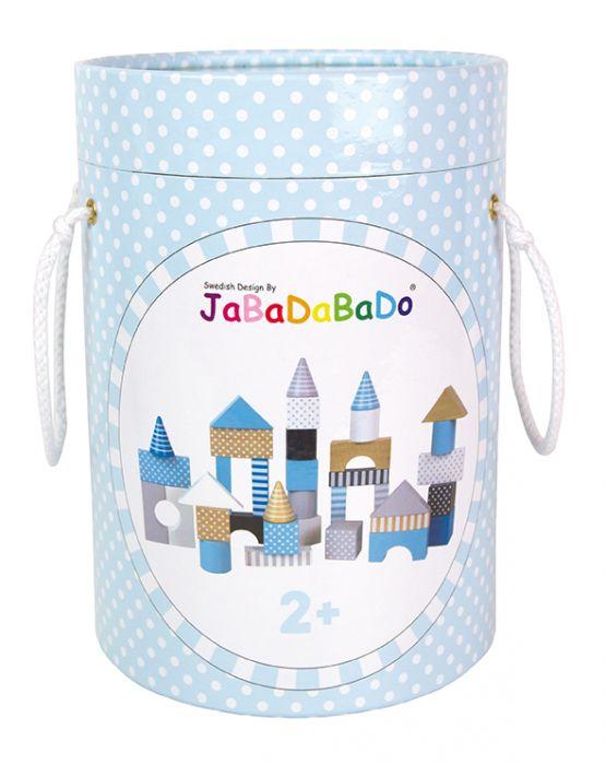 Jabadabado Blå Byggklossar i Trä