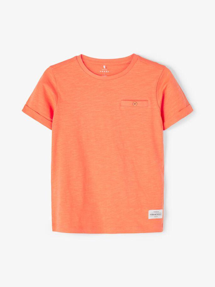 Name it Mini Enfärgad T-shirt Orange