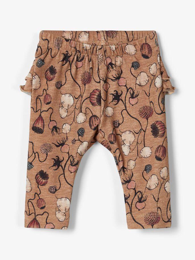 Name it Baby Blommiga Leggings i Ekologisk Bomull
