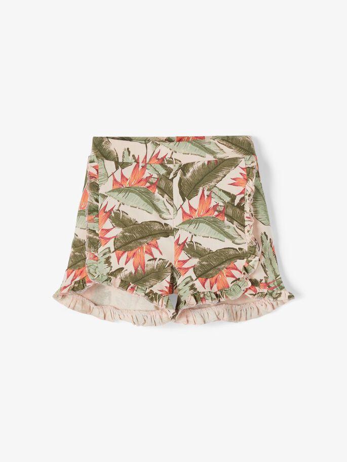 Name it Mini Mönstrade Shorts med Volangdetaljer