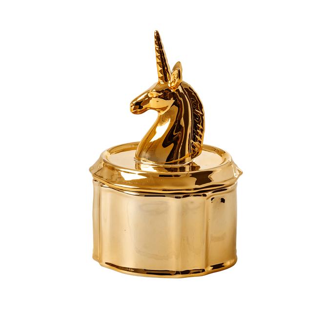 Rice Unicorn Smyckeskrin i Porslin Guld