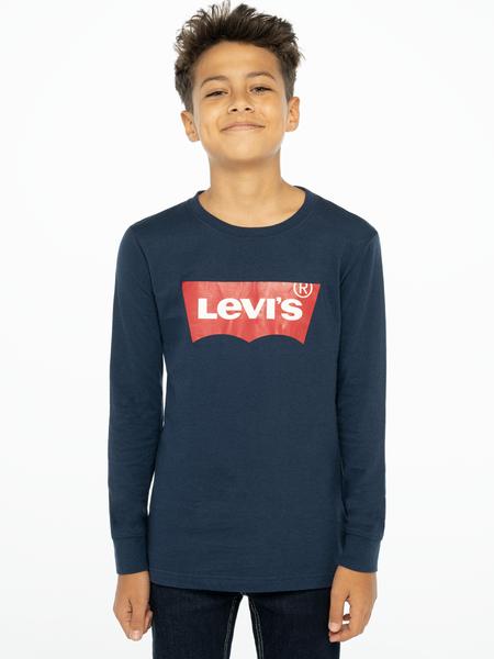 Levis Kids Logo Långärmad T-shirt Marinblå
