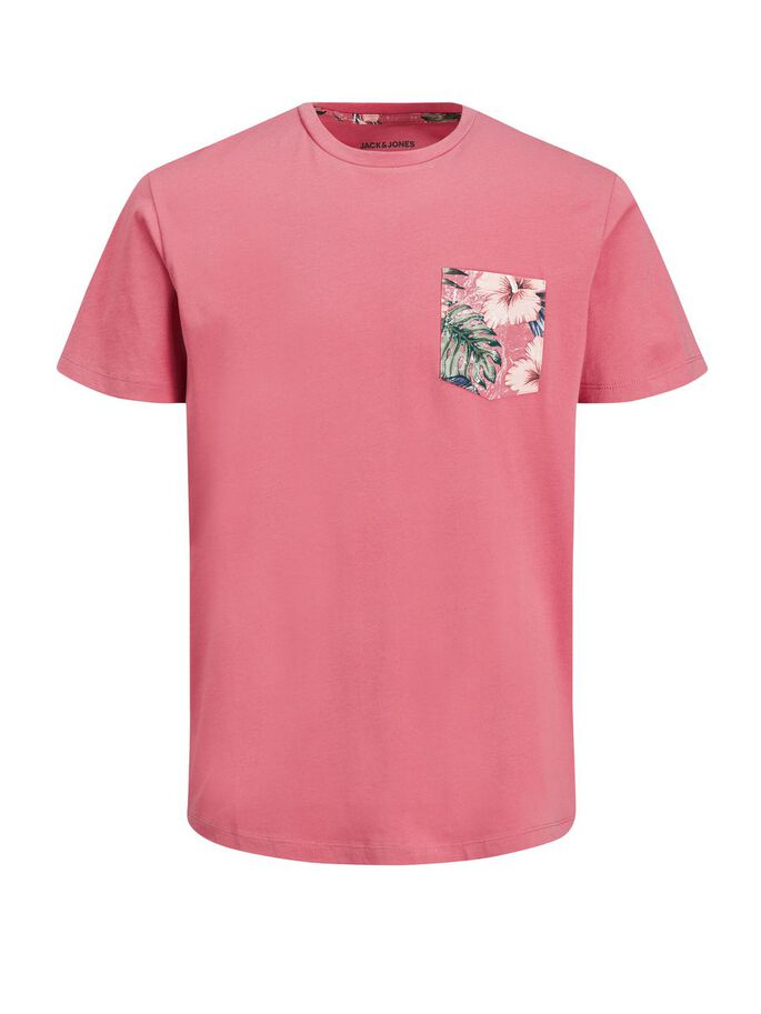 Jack & Jones Junior T-shirt med Bröstficka Rosa