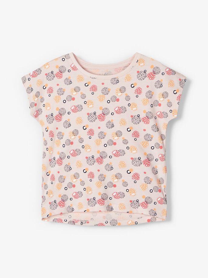 Name it Mini Mönstrad T-shirt i Ekologisk Bomull Rosa