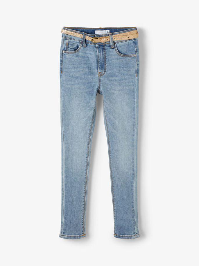 Name it Kids Highwaist Jeans med Guldskärp