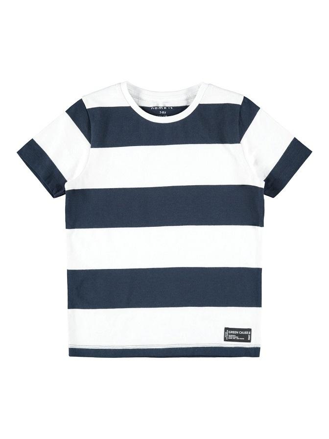 Name it Mini Blockrandig T-Shirt Marinblå
