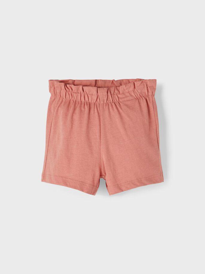 Name it Mini Paperbag Shorts i Ekologisk Bomull Rosa
