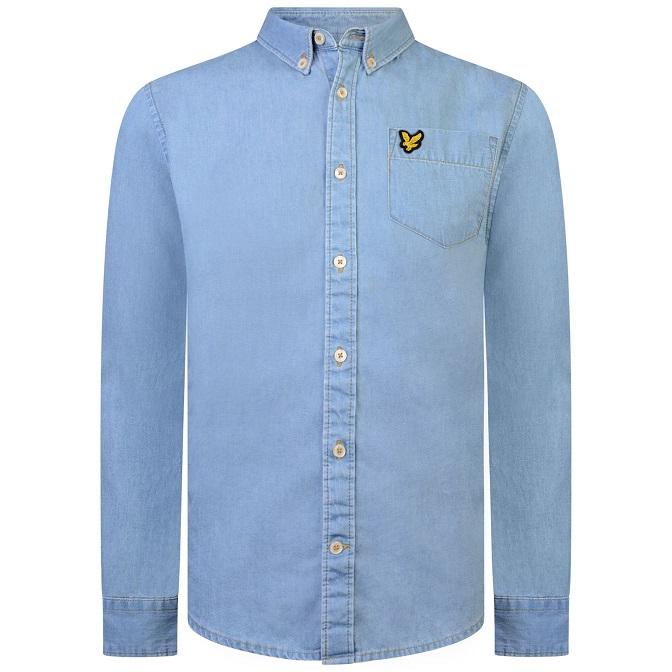 Lyle & Scott Chambray Shirt Ljusblå