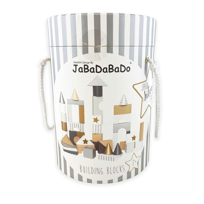 Jabadabado Byggklossar i Trä Silver