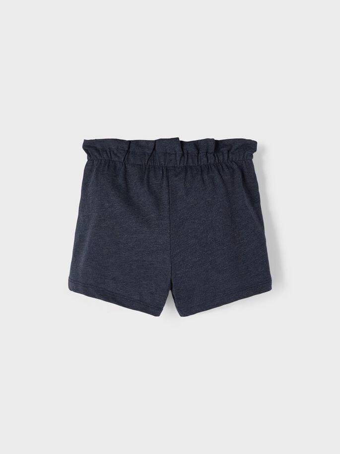 Name it Mini Paperbag Shorts i Ekologisk Bomull Mörkblå