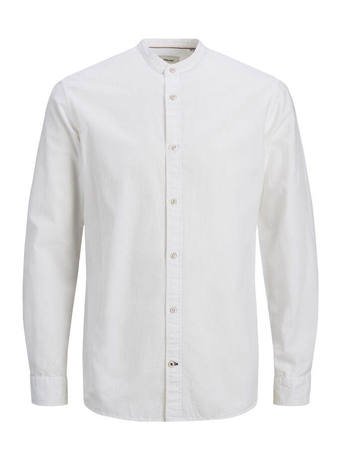 Jack & Jones Junior Skjorta med Kinakrage Vit