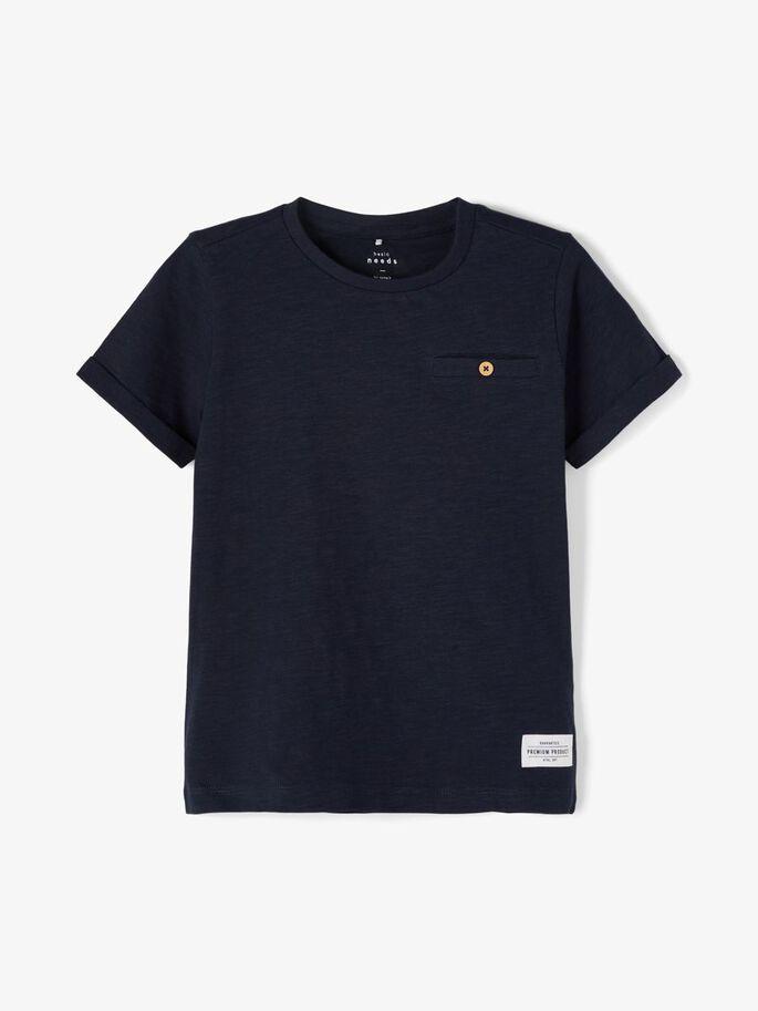 Name it Mini Enfärgad T-shirt Marinblå