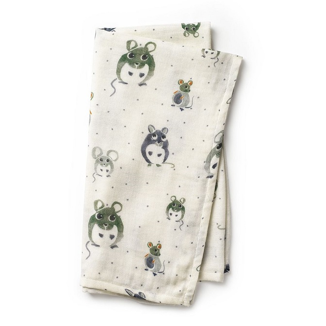 Elodie Details Bambo Muslinfilt Forest Mouse Max
