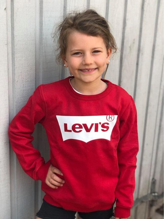 Levi´s Röd Sweatshirt Med Logo